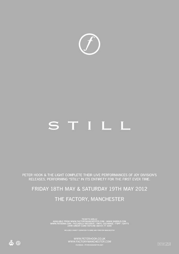 Peter Hook tocará completo 'Still', en homenaje a Ian Curtis de Joy Division