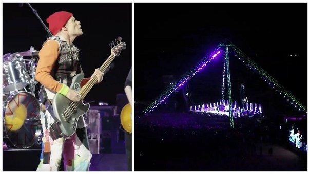 VIDEO: Mira el concierto completo de Red Hot Chili Peppers en las Pirámides de Egipto