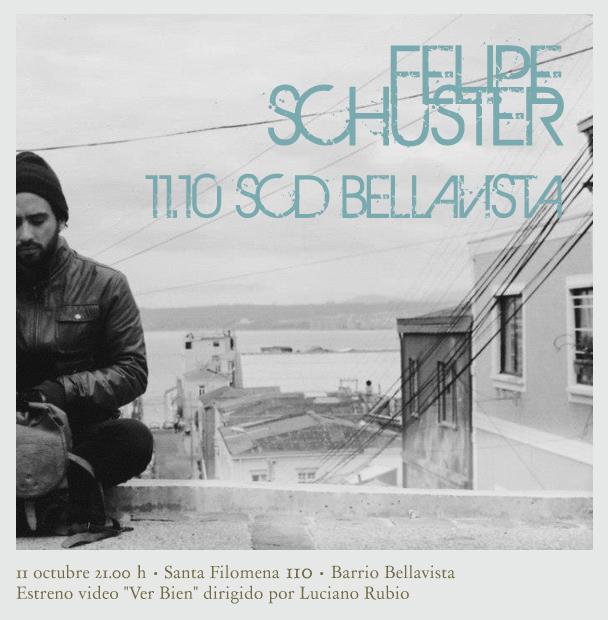 Felipe Schuster (Ex-Hic Sunt Leones) en vivo en Sala SCD Bellavista, gana invitaciones