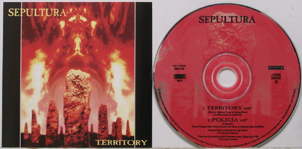 """Cancionero Rock: """"Territory""""-Sepultura (1993)"""