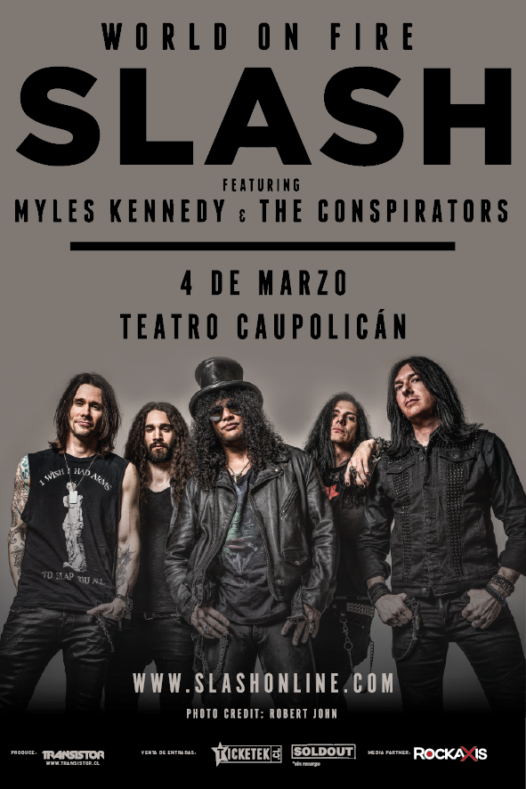 Slash regresa a Chile en marzo 2015