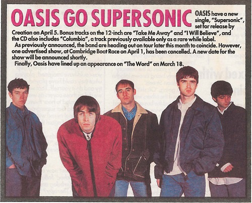 "Cancionero Rock: ""Supersonic"" – Oasis (1994)"