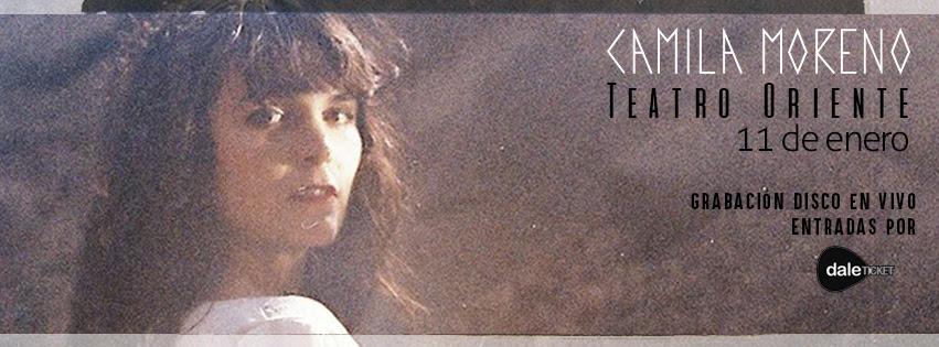 Camila Moreno grabará su primer álbum en vivo en el Teatro Oriente en enero