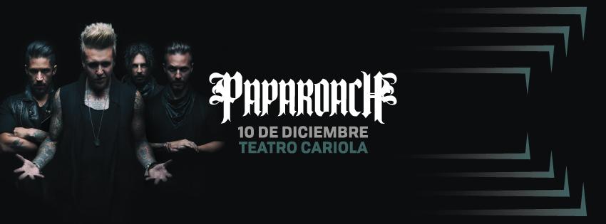 Papa Roach llega a Chile por primera vez en diciembre