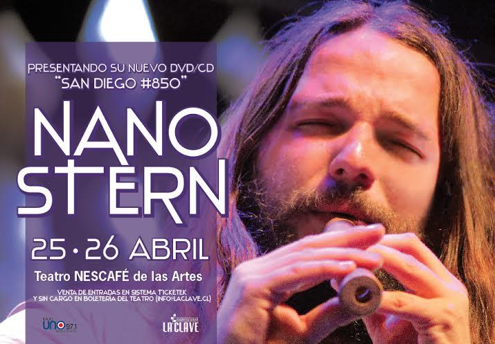 Nano Stern lanza DVD con dos conciertos en el Teatro Nescafé de las Artes