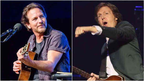 Eddie Vedder y Paul Mc Cartney serán parte de gran evento en ayuda a los médicos que luchan contra el coronavirus