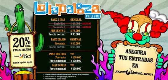 Lollapalooza comienza fase de venta de pases diarios